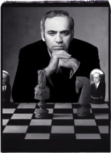 .Garry Kasparov: Super smart, super serious.